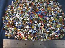 1 pound mixed drilled gemstone chips beads jade millefiori catseye glass & more