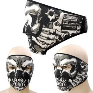 Neoprene Skull Full Face Cover Motorcycle Cycling Headwear Halloween Mask