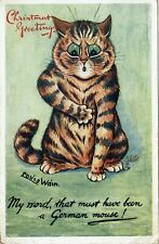 More details for scarce tuck postcad louis wain ser 8850 some cats - a german mouse 1917 1/2