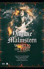 "YNGWIE MALMSTEEN ""WORLD ON FIRE TOUR 2017"" HOUSTON CONCERT POSTER - Heavy Metal"