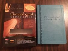NKJV Chronological Study Bible - $74.99 Retail - Peacock Blue Leathersoft