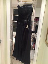 Bianca Black Sparkle Evening Dress Size 44 New