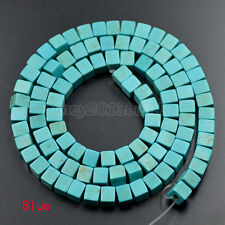 """Mix Color Jewelry Howlite Turquoise Cube Gemstone  Loose Spacer Beads 16""""4x4mm"""