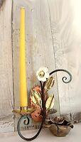 R/IfE040 robert rank anmutiger wand kerzenhalter 1armig blüte vintage handmade