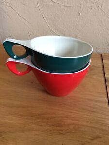 2 X Vintage Plastic Cups By Melaware