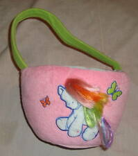 MY LITTLE PONY G3 RAINBOW DASH SPRING EASTER BASKET WITH HAIR SUPER CUTE HTF