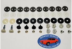 68-69 GM Door Glass Side Window Crank Regulator Guide Roller W/ Steel Nuts EE