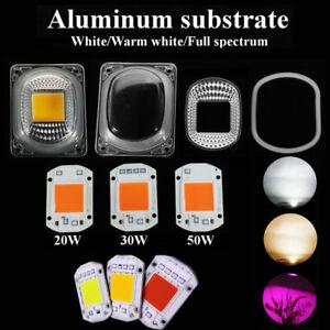 LED COB Grow Chip Full Spectrum Warm White/White 220V+Lens Reflector 50W 30W 20W