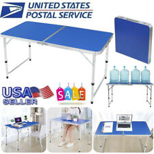 4FT Folding Table Indoor Outdoor BBQ Portable Picnic Party Camp Tables Blue US