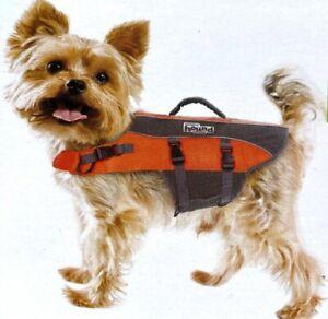 "Outward Hound Dog Life Jacket Orange XS 15-19"" Chest; 11-18 LBS Or Best Offer"