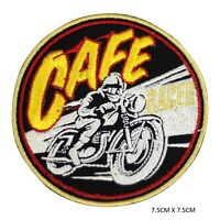 Cafe Race Bikers Iron on Sew on Patch Embroidered Patch for Clothes etc