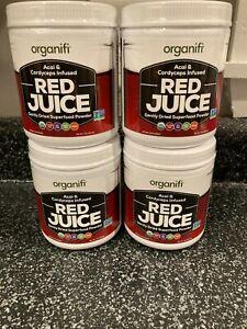 (4) Organifi Red Juice Superfood Acai and Cordyceps Brand New Sealed EXP 10/21