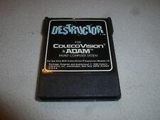 VINTAGE COLECO COLECOVISION & ADAM DESTRUCTOR VIDEO GAME CARTRIDGE 1983 CART >>