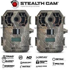 2 Pack Stealth Cam Triad G42NG Game Trail Cameras Cam 10MP HD Video IR STC-G42NG