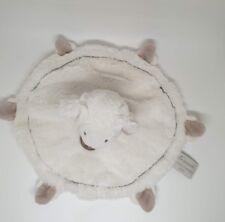 05 - Doudou et Compagnie mon tout petit mouton agneau blanc taupe plat rond NEUF