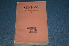 SUETONE Vies des douze Césars Tome II, avec une dédicace, voir photo (H3NP)