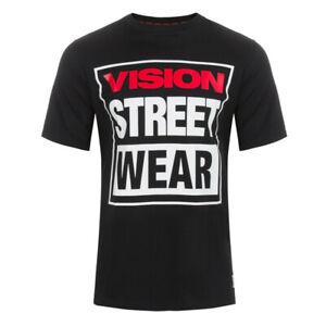 T-Shirt Vision Street Wear Classic Box Logo Black - Maglietta a Maniche Corte