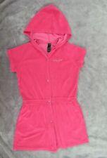 **Baby Phat Short Sleeve Hooded Snap Swim Bath Robe Girls Size 16