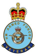 RAF Royal Air Force HM Armed Forces Veterans Clear Cling Sticker