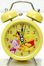 Silent Winnie the Pooh Children Kids Desktop Twin Bell Alarm Clock with Light