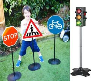 Road Safety Signs or Traffic Signal Lights Kids Educational Pretend Play Toy
