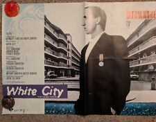 """PETER TOWNSHEND """"WHITE CITY"""" VHS STORE POSTER VERY RARE!"""