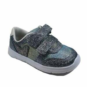 GIRLS CLARKS ATH WING GLITTER TRAINERS