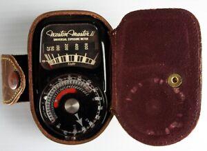 Weston Master II Universal Exposure Light Meter Model 735 Vintage w/Leather Case