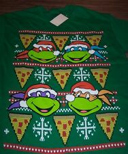 TEENAGE MUTANT NINJA TURTLES CHRISTMAS SWEATER STYLE T-Shirt SMALL NEW w/ TAG