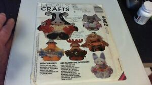 McCalls Crafts Pattern  #6662 Treat Basket Any occasion.