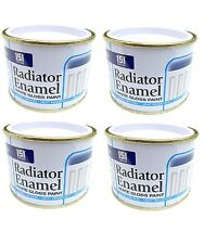 4pk Radiator Enamel Paint White Gloss Heat Resistant topcoat Pipes Quick Dry