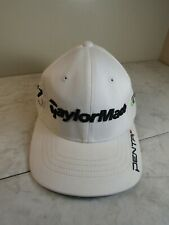 Taylor Made Tmax Gear Golf White/Black Cotton Blend Baseball Fitted Hat L/Xl