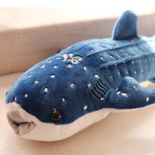 Big Cute Blue Shark Fish Whale Fluffy Plush Stuffed Doll Toys Child Kid Soft Toy