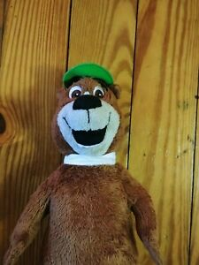 "10"" Vtg 1980 Hanna Barbara Yogi Bear Plush Toy Stuffed Animal"