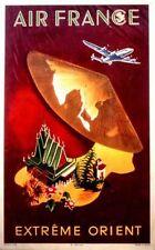 Affiche AIR FRANCE Extrême Orient - G.Dumas 1950