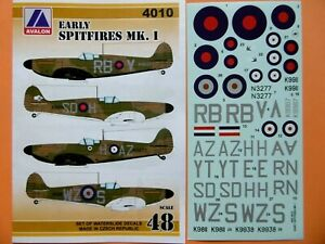 Avalon Decals 1/48_ Supermarine SPITFIRE Mk.I