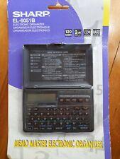Sharp Memo Master EL-6051B Electronic Organizer Vintage PDA New 6 Functions d2