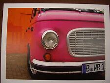 JOHN LEWIS BERLIN BUS (PINK) PRINT BY SCOTT DUNWOODIE  30cm x 40cm