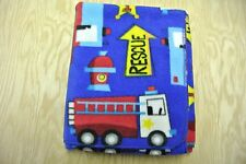 Fire Truck Police Car Ambulance Rescue Baby Blanket Can Be Personalized 29x37