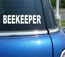 BEEKEEPER BEE KEEPER FUNNY DECAL STICKER ART CAR WALL