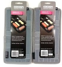 """Lot of (2) COCOON CPG5GY 5.13"""" x 10"""" Grid-It Gadget Organizer(Gray)for phone/pen"""