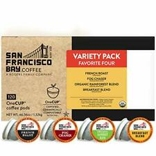 New listing Sf Bay Coffee OneCup Variety Pack 120 Ct Compostable 120 Count (Pack of 1)