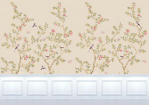 Dolls House Wallpaper Mural 1/12th  scale Beige & White Quality Paper #27B