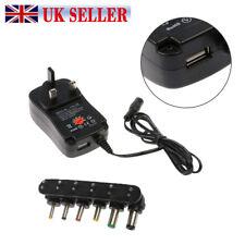 UK Universal Mains AC/DC Power Adaptor Supply Plug Charger 3v 4.5v 5v 6v 9v 12v