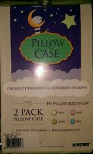"""Two Youth Pillow Cases Fits Pillows Sized 18"""" x 24"""", Sage Green"""