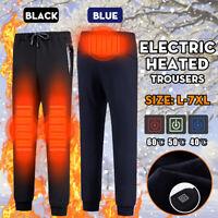 L-7XL Pantalon Chauffant électronique USB Pantalons de Survêtement Femme Homme
