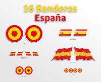 16 pegatinas bandera españa bicicleta moto casco vinilo vinyl stickers decal