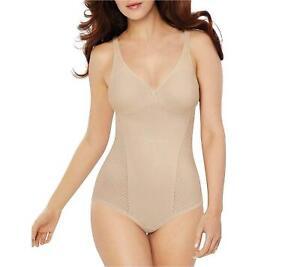 Bali Women's Passion for Comfort Minimizer Bodysuit, Soft, Soft Taupe, Size 38C