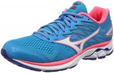 Mizuno Lady's Running shoes Wave Rider 20 Super wide J1Gd1706 Sky-blue X white