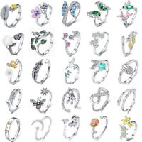 Authentic 925 Sterling Silver Open Rings Fashion Women Girls Jewelry Free Size